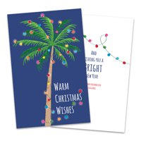 Personalized Decorated Palm Tree Folded Christmas Greeting Card