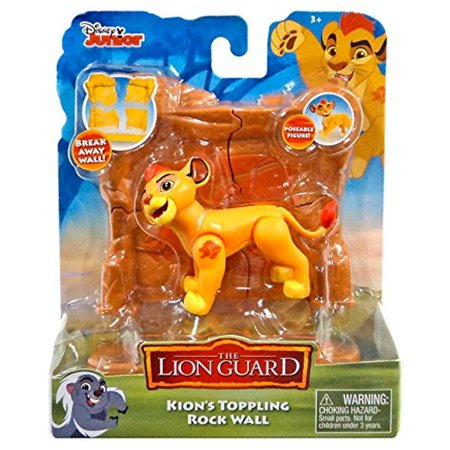 - Disney Lion Guard Kion with Rock Wall Figure & Accessory Set