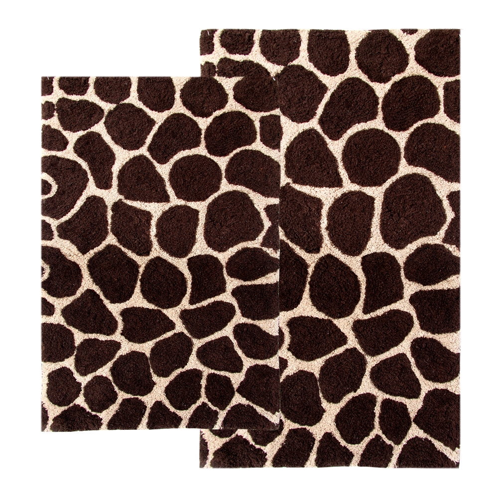 Chesapeake Merchandising Giraffe Print 2-pc. Bath Rug Set