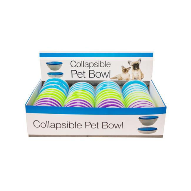 Bulk Buys DI292-48 Collapsible Pet Bowl Countertop Display, 48 Piece