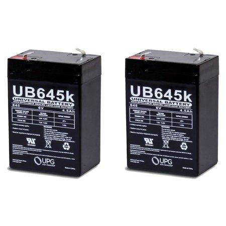 6 Volt 6v 4.5ah Rechargeable Deer Game Feeder Battery - 2 Pack ()