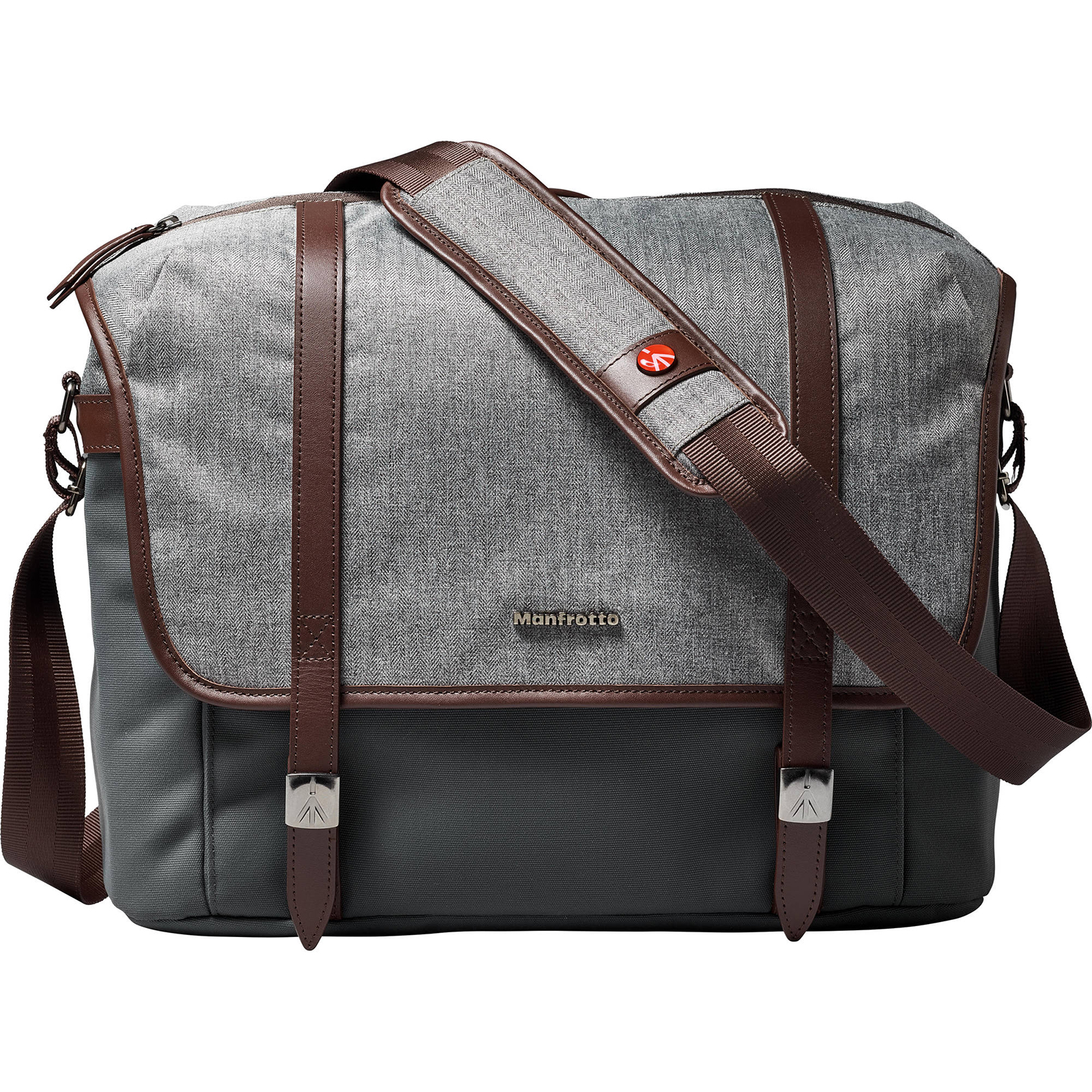"""Manfrotto Lifestyle Windsor Digital SLR Camera Messenger Bag (Medium) with 58"""" Tripod + Flash Diffuser + Cleaning Kit"""