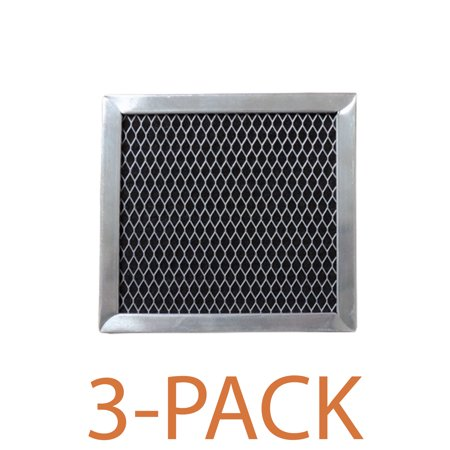 Supco RCP0545 Range Hood Filter (3-Pack) Charcoal filter specifically designed to fit Whirlpool range hoods and microwave ovens.