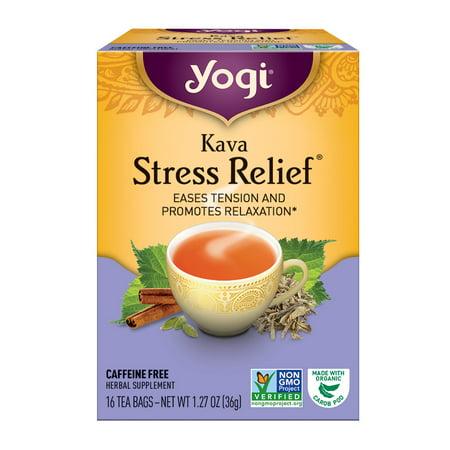 (6 Boxes) Yogi Tea, Kava Stress Relief Tea, Tea Bags, 16 Ct, 1.27
