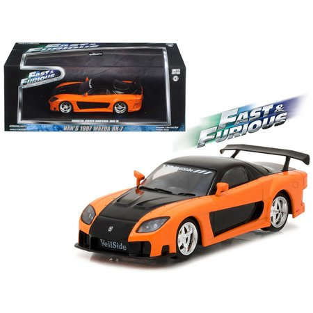 Hans 1997 Mazda Rx 7 Fast And Furious  Tokyo Drift Movie  2006  1 43 Diecast Model Car By Greenlight
