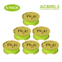 Juslike  String Trimmer Lines Compatible with Ryobi 18v 20v 40v Cordless Trimmer, 11ft 0.08 inch Autofeed Weed Eater Spools, Set of 6 Spools