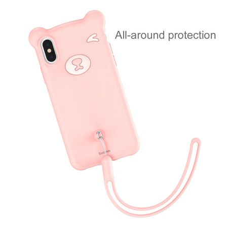 Silicone Cover Cute Little Bear Shockproof Case Baseus For iPhone XS Max XR X - Matx Cube Case