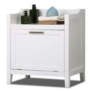 Yaheetech White Bathroom Storage Cabinet Free Standing Laundry Room Furniture