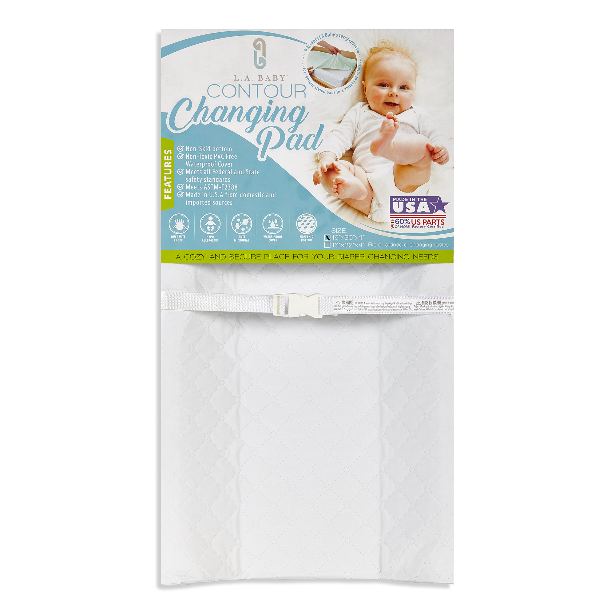 "Click here to buy LA Baby 32"" Contour Waterproof Changing Pad by LA Baby."