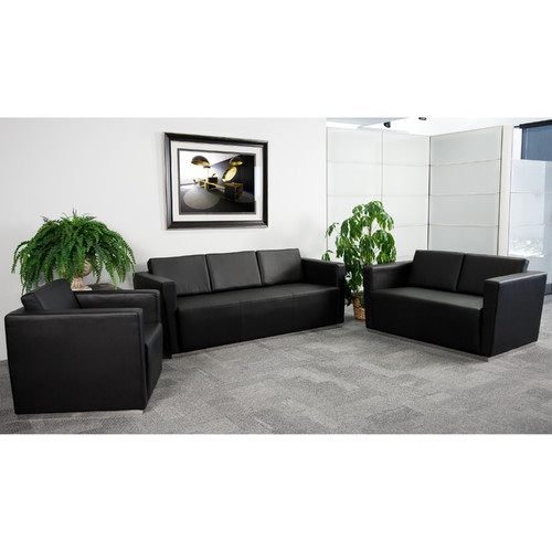 Flash Furniture Hercules Trinity Series Leather Reception Set