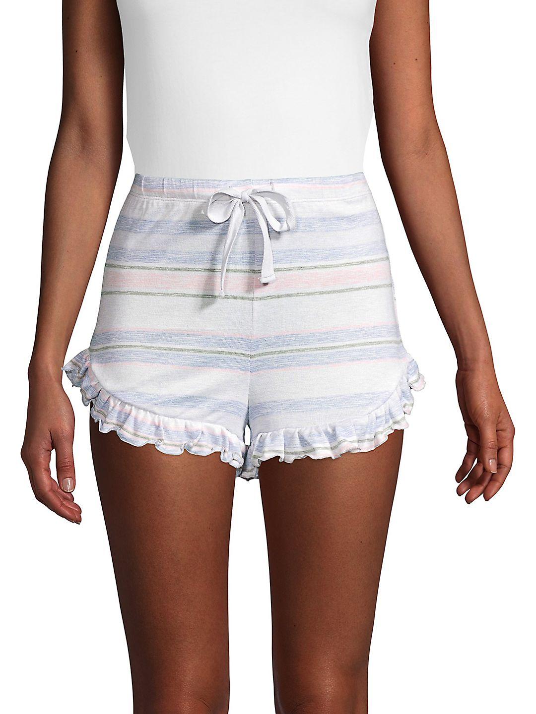 Printed Ruffle Shorts
