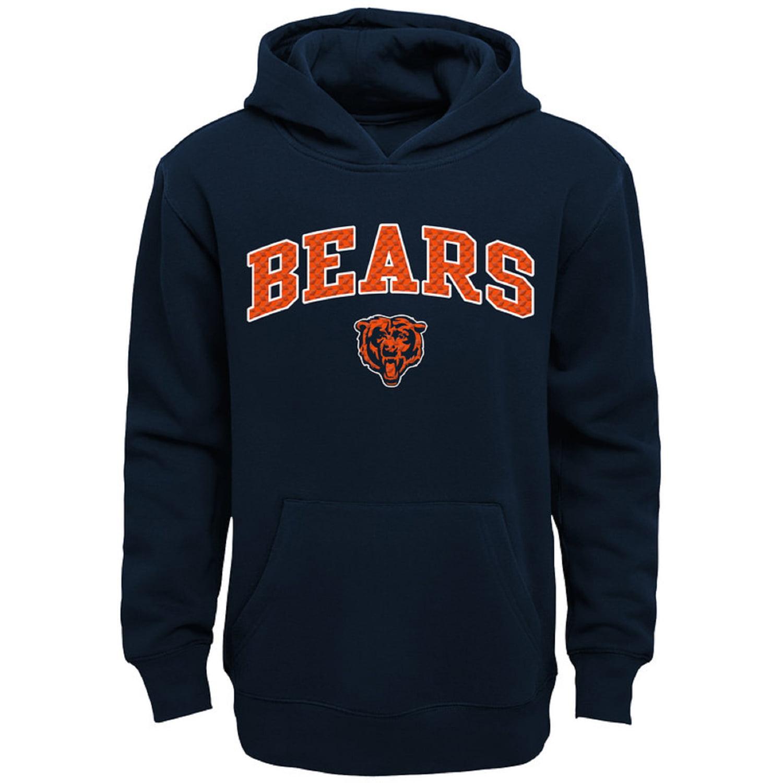 Youth Navy Chicago Bears Clear Gel Fleece Hoodie
