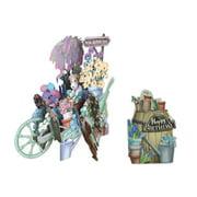 Paper d'Art Wheelbarrow Happy Birthday 3D Pop Up Greeting Card (Other)
