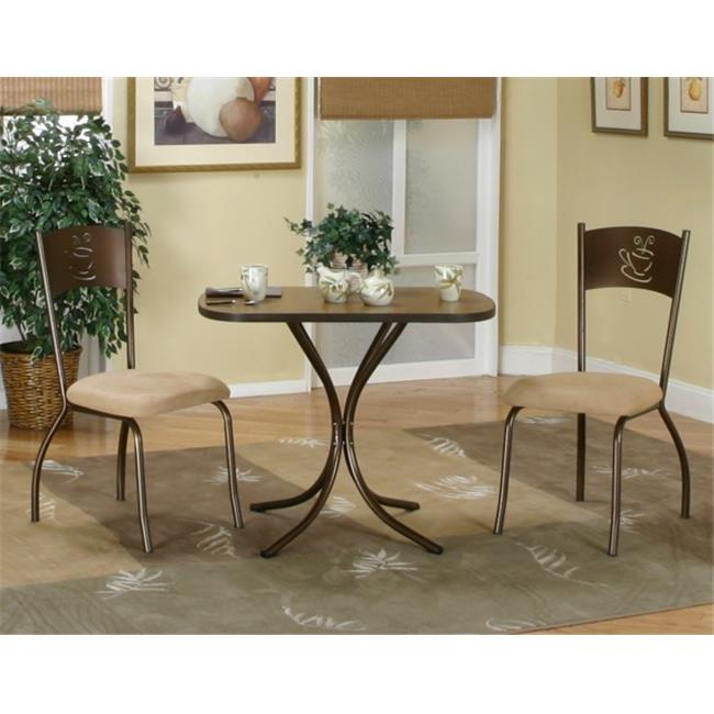 Sunset Trading 3 Piece Cappuccino Dinette Set