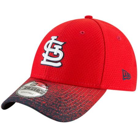 St. Louis Cardinals New Era Visor Blur 9FORTY Adjustable Hat - Red - (Louis Garneau Visor)