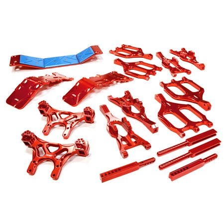 Integy RC Toy Model Hop-ups T3035RED Suspension Kit Monster Evolution-5 for Traxxas T-Maxx (4907, 4908)