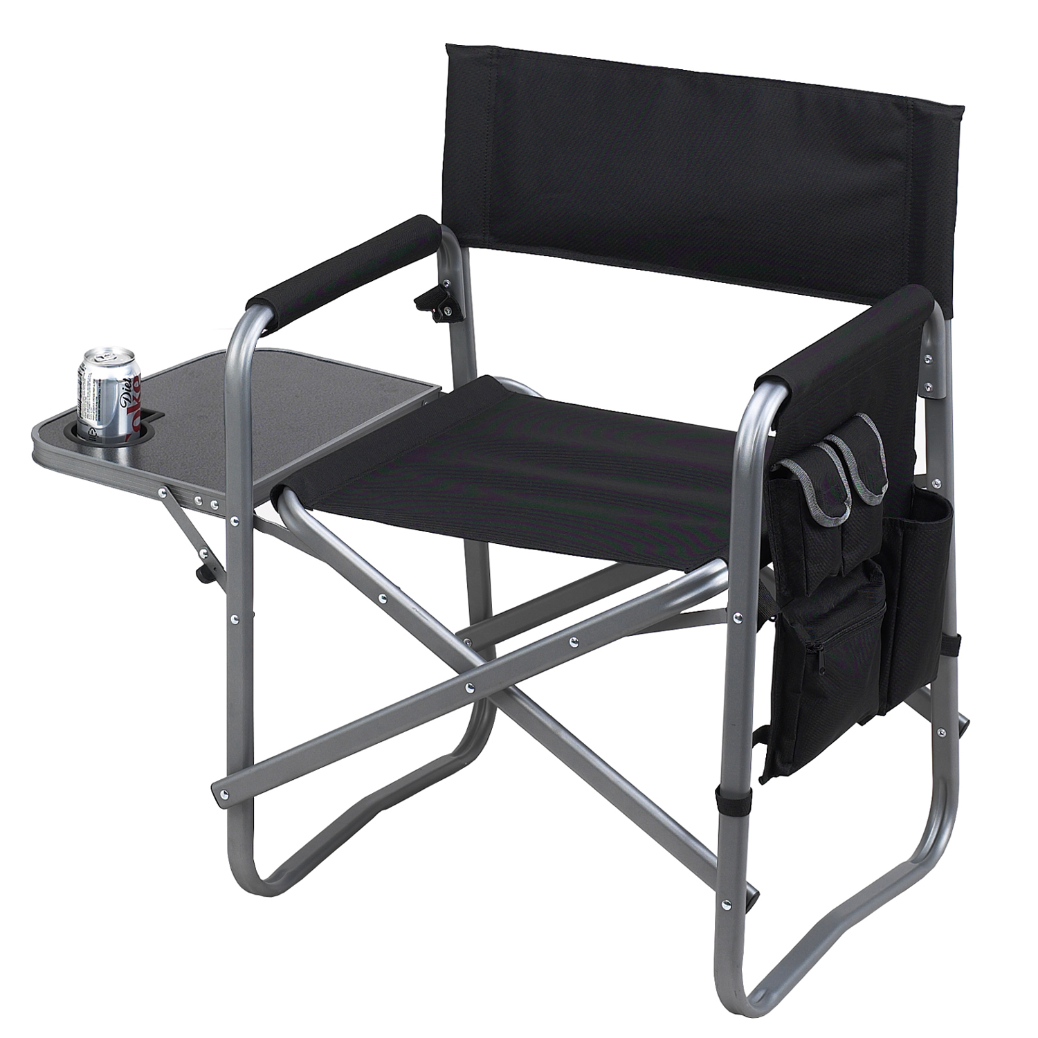 Picnic at Ascot Director's Chair with Side Table (463-BLK)