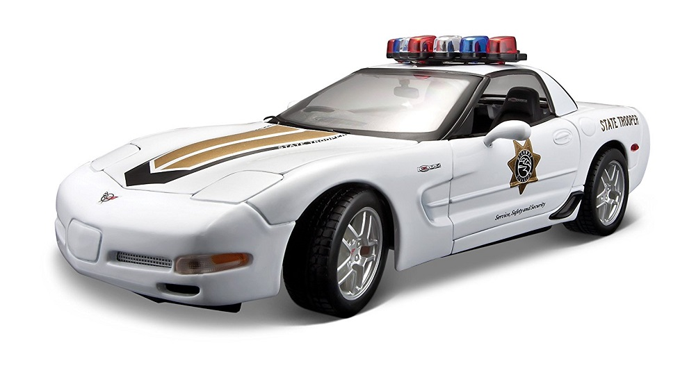 Maisto 2001 Chevy Corvette Z06 Police 1:18 Diecast Model Car by Diecast Dropshipper