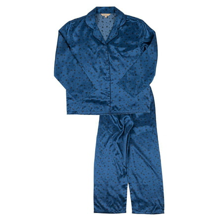 2 Piece Satin Pajama Set (Leveret Mens Pajamas Christmas Satin Pajamas 2 Piece Pajama Set Moon Size)