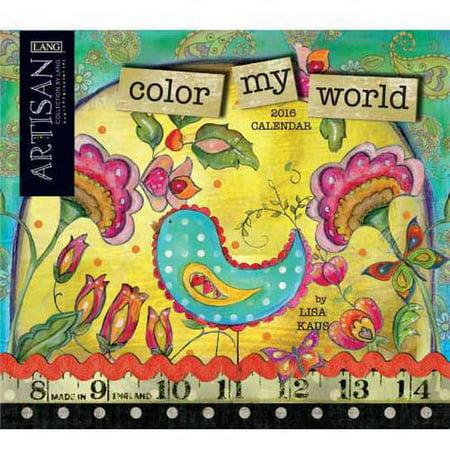 Lang Color My World 2016 Wall Calendar - Walmart.com