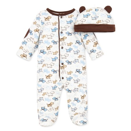 46238ed8d Little Me Baby Boys Cute Puppies Footie - Walmart.com