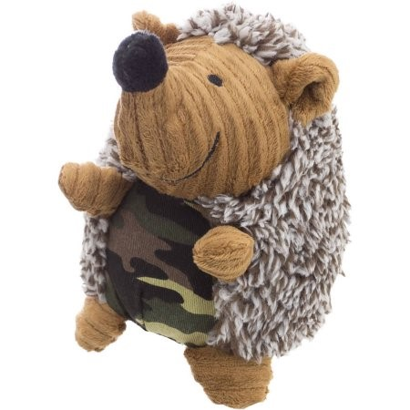 Plush Hedgehog Dog Toy with Camo Belly, Cuddly Squeaky, 5.5""