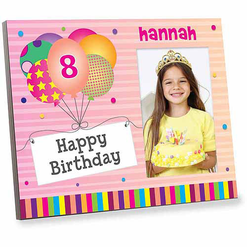 Personalized Pink Happy Birthday Off Set Frame