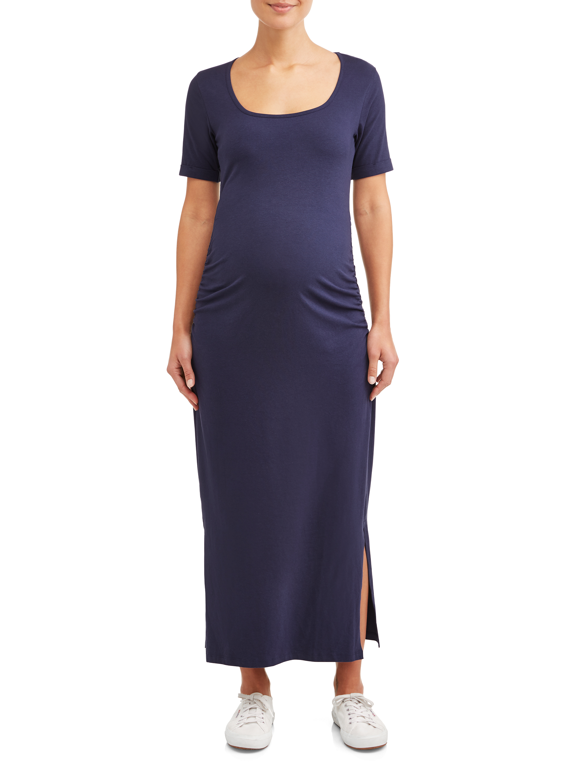 Maternity Short Sleeved Maxi Dress - Available in Plus Sizes
