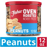 FISHER Snack, Oven Roasted Never Fried, Peanuts, Made with Sea Salt, 12 oz