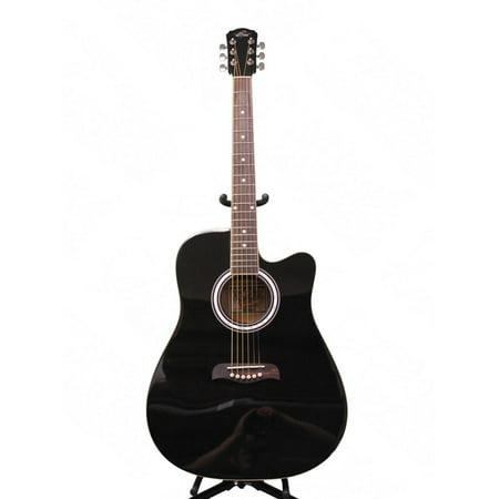 oscar schmidt by washburn acoustic guitar w gig bag black picks od45cbpak. Black Bedroom Furniture Sets. Home Design Ideas