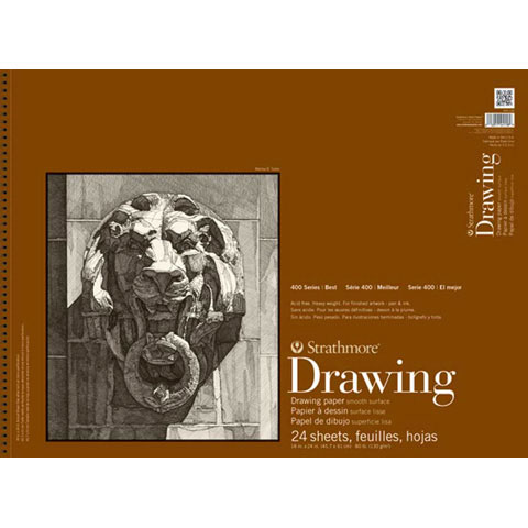 Strathmore Drawing Paper Pad - 400 Series - Cream - 80lb - 18 x 24 inches