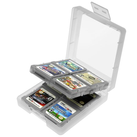 Insten Game Card Storage Case 16 In 1 For Nintendo New 3Ds   3Ds   Ds   Ds Lite   Dsi   Dsi Ll   Xl   White