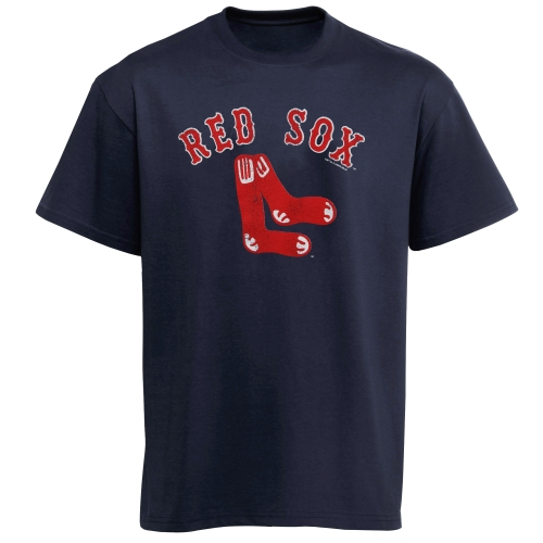 Boston Red Sox Youth Cooperstown T-Shirt - Navy Blue