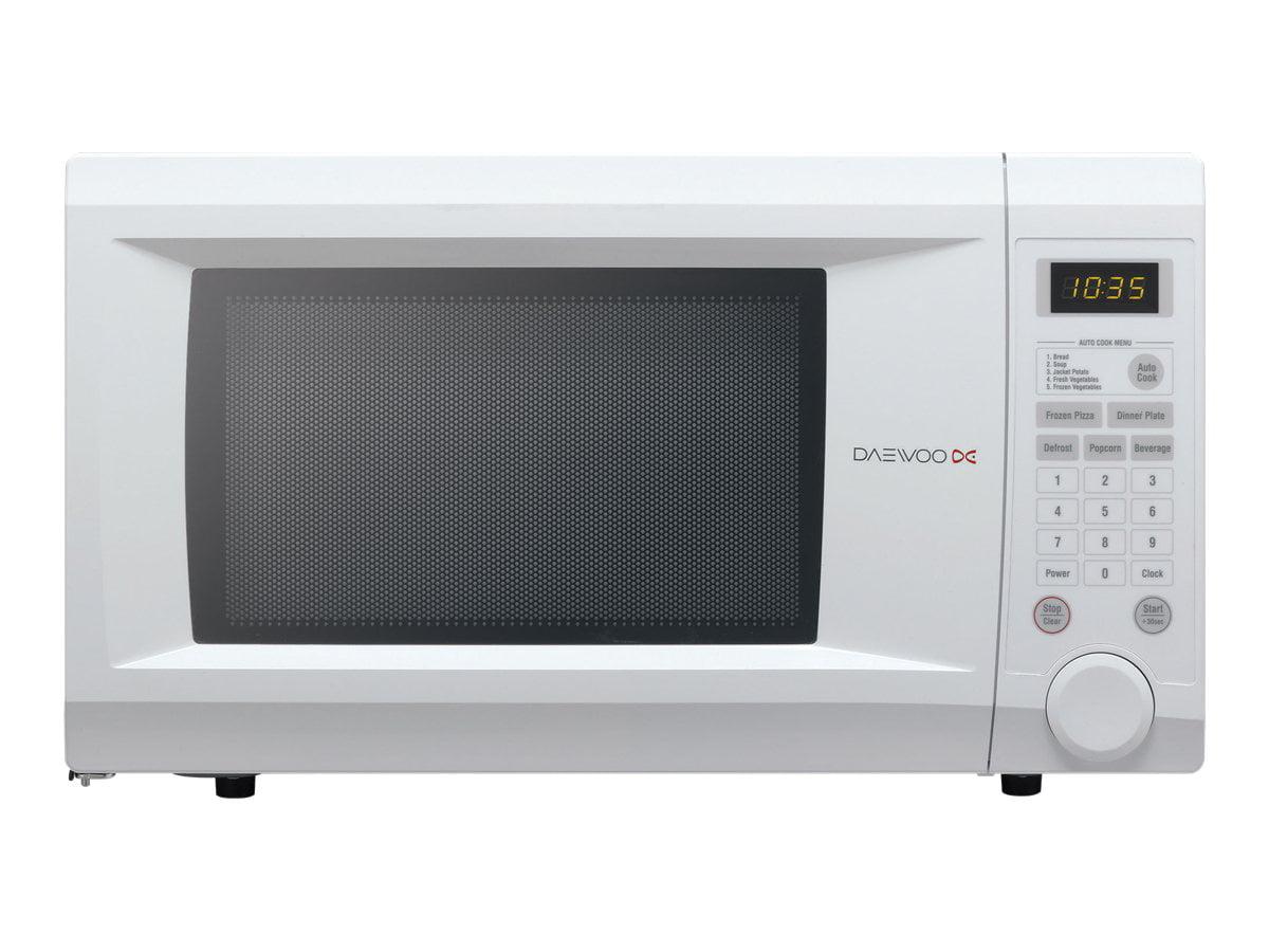 daewoo kor 1n0a countertop microwave oven 1 1 cu ft 1000w white rh walmart com Microwave Convection Oven Daewoo Microwave RV