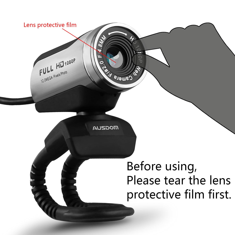 AUSDOM Webcam Calling and Recording, 1080p Camera, Desktop or ...