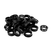 Unique Bargains Plastic 30mm Cable Hose Snap Locking Bushing Protective Grommet 30Pcs Black
