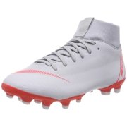 Nike Superfly 6 Academy Kid's Firm Ground Soccer Cleats Grey/Red