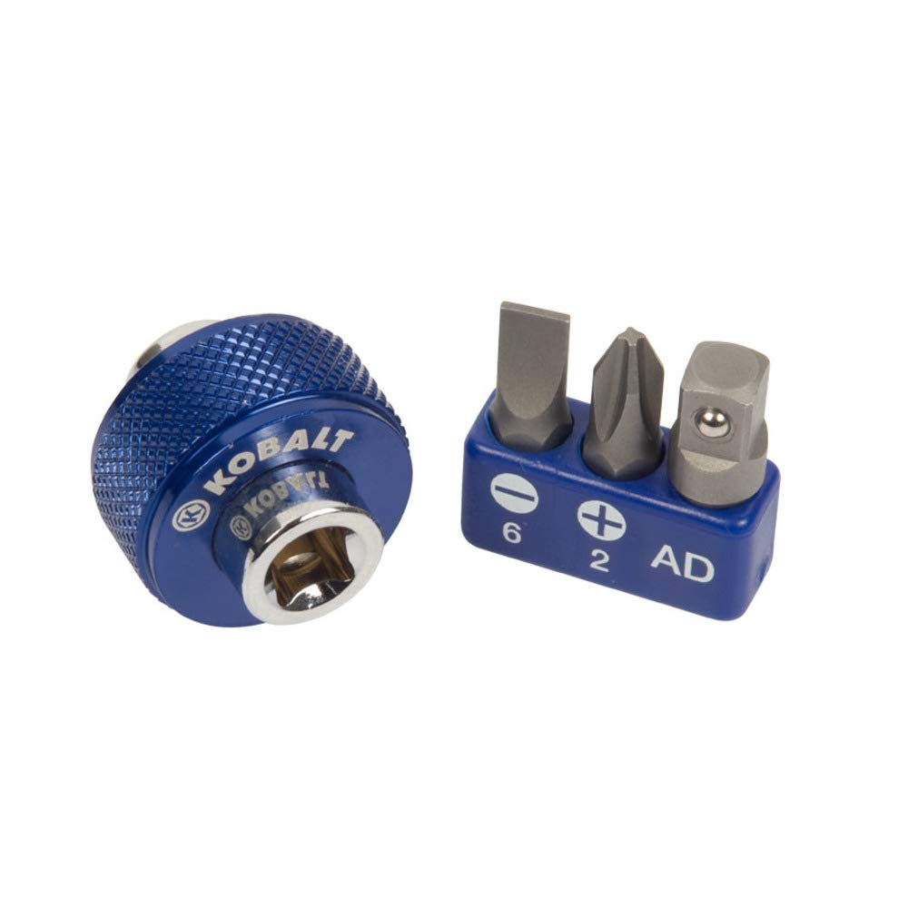 Kobalt 4-Piece 1/4-in Drive Phillips Flathead Driver Socket Set - 0337335