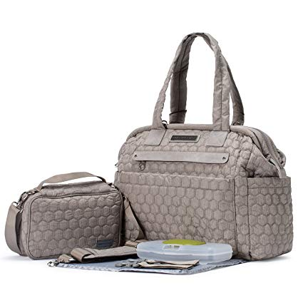 Soho Diaper Bag Union Square Light Gray 6 pieces Nappy Tote Travel Bag