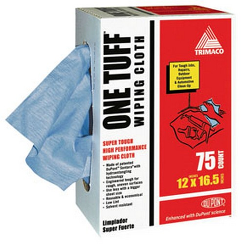 Trimaco 84075 One Tuff Wiping Cloths with DuPont Co-Brand, 12x16.5, 75 pack