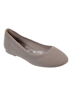 7b24566533 Product Image Women s Skechers Casey Ballet Flat Taupe ...