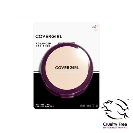 COVERGIRL Advanced Radiance Age-Defying Pressed Powder, 105 Ivory, 0.44 oz