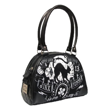 Liquorbrand Jinx Proof Halloween Black Cat Luck Goth Gothic Shoulder Bag (Halloween Purses)