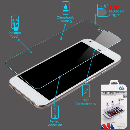 """For Google Pixel XL 5.5"""" Clear Tempered Glass Screen Protector Film (2.5D)"""