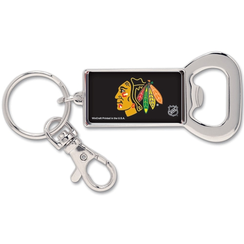 Chicago Blackhawks WinCraft Bottle Opener Key Ring Keychain - No Size