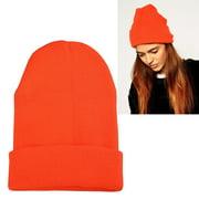 Zodaca Orange Unisex Knitted Beanie Hat