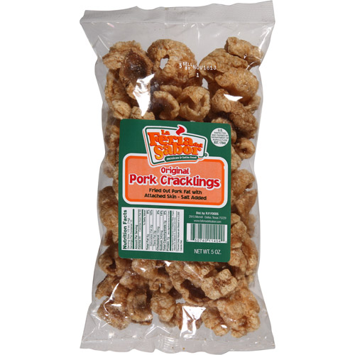 La Feria del Sabor Original Pork Cracklings, 5 oz, (Pack of 15)