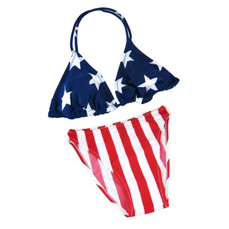 American Flag Triangle Top Bikini USA U.S. Stars Stripes (Triangle Top Bikini)