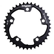 Eclypse, Glide-Pro 130, 52T, 8-10sp, BCD: 130mm, 5 Bolt Outer Chainring, Alloy, Black