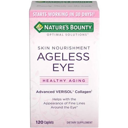 Nature's Bounty Optimal Solutions Ageless Eye Advanced Verisol Collagen Dietary Supplement, 120